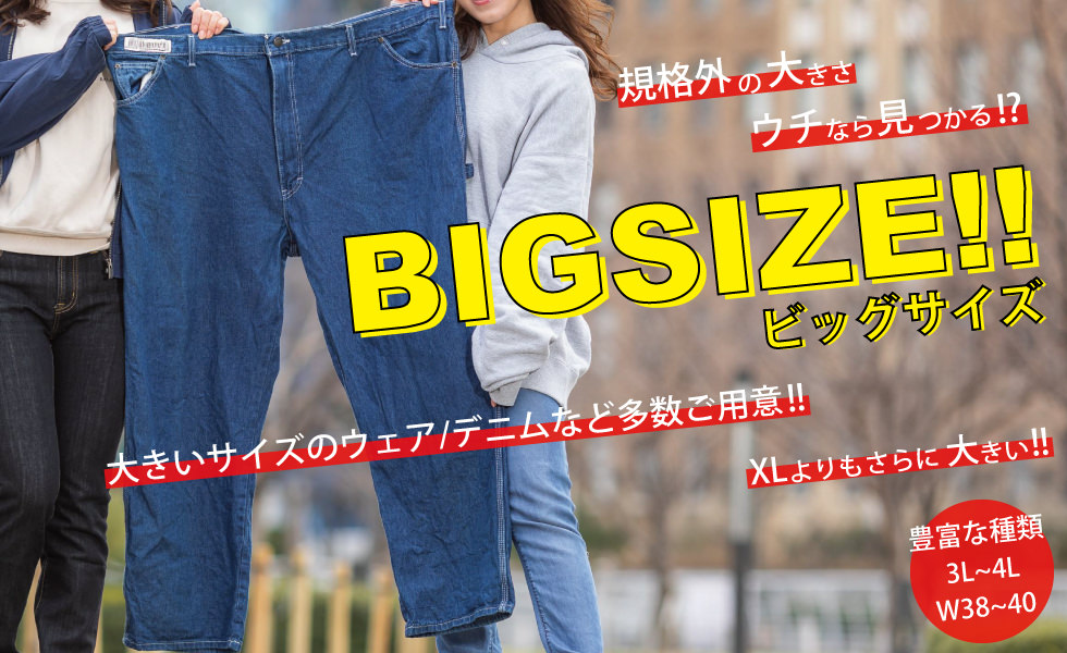 ビッグサイズ商品一覧ページ BIG2nd