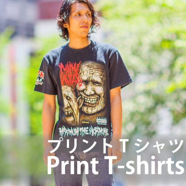 メンズピックアップアイテム プリントTシャツ